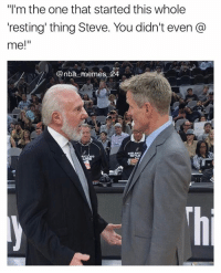 """Steve should've @'ed him 😂 Thoughts on Warriors resting players? 🤔 nbamemes nba_memes_24: """"I'm the one that started this whole  resting thing Steve. You didn't even  me!""""  Canba memes 24  ANT NIO Steve should've @'ed him 😂 Thoughts on Warriors resting players? 🤔 nbamemes nba_memes_24"""