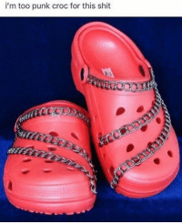 Crocs, Shit, and Punk: i'm too punk croc for this shit