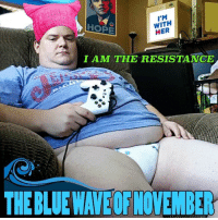 Blue, Her, and Resistance: I'M  WITH  HER  IAM THE RESISTANCE  THE BLUE WAVE OF NOVEMBER