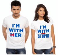 Voting as a couple!: I'M  WITH  HER  I'M  WITH  STUPID Voting as a couple!