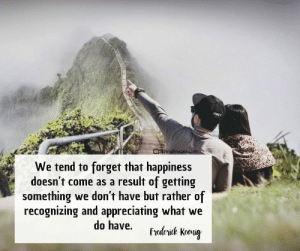 22 Marriage Quotes Every Couple Should Read #sayingimages #marriagequotes #couplequotes #lovequotes: Ima  We tend to forget that happiness  doesn't come as a result of getting  something we don't have but rather of  recognizing and appreciating what we 22 Marriage Quotes Every Couple Should Read #sayingimages #marriagequotes #couplequotes #lovequotes