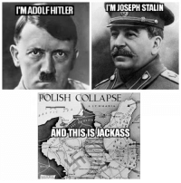 stalin: IMADOLFHITLER  I'M JOSEPH STALIN  POLISH COLLAPSE  AND THISIS JACKASS