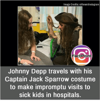 Facts, Friends, and Instagram: Image Credits: eithnem/instagram  FactPoin  Johnny Depp travels with his  Captain Jack Sparrow costume  to make impromptu visits to  sick kids in hospitals. This is lovely 💟 did you know fact point , education amazing dyk unknown facts daily facts💯 didyouknow follow follow4follow earth science commonsense f4f factpoint instafact awesome world worldfacts like like4ike tag friends Don't forget to tag your friends 👍