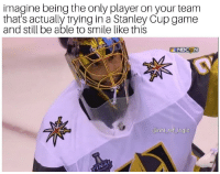 MAF deserves the Conn Smythe regardless of who wins the Cup change my mind: imagine being the only player on your team  that's actually trying in a Stanley Cup game  and still be able to smile like this  @nhl _ref logic MAF deserves the Conn Smythe regardless of who wins the Cup change my mind
