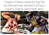 "Dope, Memes, and Shit: Imagine if Pierce, being the ""big"" fan  he claimed to be, dressed X-24 up in  Logan's original comic book attire.  IGl TheDailyFanboy I personally feel like it would elevate the film because the first time we see X-24 he's garbed in shadow and then when he stabs Professor X in the chest and he moves into the light we're horrified but if he walked into the light in a completely comic book accurate suit the audience would cheer only to have their cheers torn from them as he murdered Professor X. Shit sounds dope IMO. Idk let me know below what you think. marvel mcu marvelcomics comics wolverine thewolverine xmen fox 20thcenturyfox hughjackman x23 professorX mutant logan oldmanlogan pierce laura jamesmangold darkphoenix firstclass daysoffuturepast"