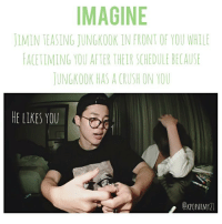 IMAGINE IMIN TEASING JUNGKOOK INFRONT OF YOU WHILE LACETIMING YOU