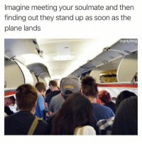 Soon..., Imagine, and Plane: Imagine meeting your soulmate and ther  finding out they stand up as soon as the  plane lands  drgrayfang I do this. (DrGrayfang)
