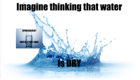 Is Water Wet: Imagine thinking that water  SPONSORED BY  WATER IS WET GANG  IS DRY