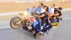 IMAGINE THIS 10 PEOPLE Doing The Motorcycle Wheelie TOTALLY CRAZY: IMAGINE THIS 10 PEOPLE Doing The Motorcycle Wheelie TOTALLY CRAZY