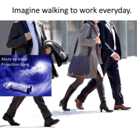 A bird is fine, too.: Imagine walking to work everyday.  Made by Astral  Projection Gang A bird is fine, too.