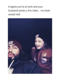 Precious, Work, and Heart: imagine you're at work and your  husband sends u this video...my heart  would melt this is so precious my heart via: @thatnigganicoli