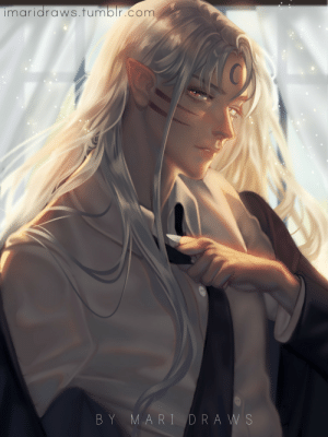imaridraws:I'm dying but I forced myself to stay up and finish this, I don't know why I do this to myself. Modern Sesshomaru ♥: imaridraws.fumblr.com  BY MARI DRAWS imaridraws:I'm dying but I forced myself to stay up and finish this, I don't know why I do this to myself. Modern Sesshomaru ♥