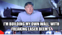 I don't get a lot of bad memes on my FB, but when I do... they're bad.: IMBUILDING MY OWN WALL WITH  FREAKING LASER BEEMS I don't get a lot of bad memes on my FB, but when I do... they're bad.