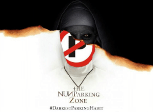 Mumbai Police joins 'The Nun' poster meme fest, delivers a message ...: IME  NUMPARKING  ZONE  Mumbai Police joins 'The Nun' poster meme fest, delivers a message ...