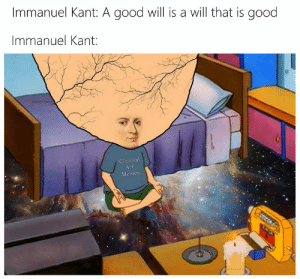 Art Memes: Immanuel Kant: A good will is a will that is good  Immanuel Kant:  Classical  Art  Memes  iSEESEDS