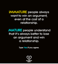 Immaturity in a relationship