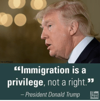 """President @realDonaldTrump has been a harsh critic of German Chancellor AngelaMerkel's open door policy toward Syrian refugees. What did you make of their first face-to-face meeting Friday?: """"Immigration is a  privilege, not a right.""""  President Donald Trump  FOX  NEWS President @realDonaldTrump has been a harsh critic of German Chancellor AngelaMerkel's open door policy toward Syrian refugees. What did you make of their first face-to-face meeting Friday?"""