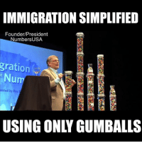 Numbersusa: IMMIGRATION SIMPLIFIED  Founder/President  NumbersUSA  gration  Nu  ented by Roy E