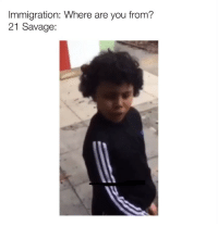 Memes, Savage, and Immigration: Immigration: Where are you from?  21 Savage: