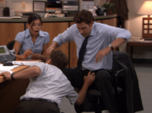 The Office, Imo, and Moment: IMO a cringe-worthy moment.