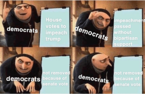 I mean its gonna happen: impeachment  passed  without  bipartisan  support  House  democrats  votes to  democrats  impeach  trump  fastibe  not removed  not removed  democrats  because of  democrats because of  senate vote  senate vote I mean its gonna happen