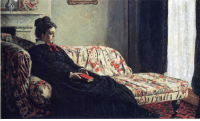 impressionism-art:   Meditation, Madame Monet Sitting on a Sofa  1871   Claude Monet   : impressionism-art:   Meditation, Madame Monet Sitting on a Sofa  1871   Claude Monet
