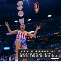 From outrageous dunks to dancing dogs, the NBA has been stepping up its halftime game this season👌: IMPRESSIVE PERFORMERS AND  WACKY PERSONALITIES HAVE  BECOME A MUST SEE SPECTACLE From outrageous dunks to dancing dogs, the NBA has been stepping up its halftime game this season👌