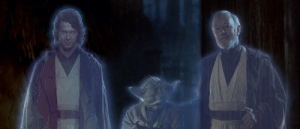 In 'Star Wars: Episode VI - Return of the Jedi' (1983), Hayden Christensen makes an appearance at the end of the film. He was born in 1981, making him less than the age of two in this scene, thus practical effects were used by George Lucas to make him appear older.: In 'Star Wars: Episode VI - Return of the Jedi' (1983), Hayden Christensen makes an appearance at the end of the film. He was born in 1981, making him less than the age of two in this scene, thus practical effects were used by George Lucas to make him appear older.