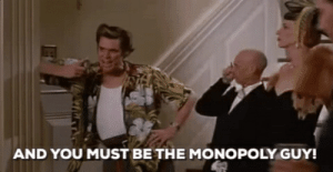 """In """"Ace Ventura: When Nature Calls"""" Jim Carrey refers to this man as the monopoly man, which is incorrect. The monopoly man does not wear a monocle, and he is also fictional.: In """"Ace Ventura: When Nature Calls"""" Jim Carrey refers to this man as the monopoly man, which is incorrect. The monopoly man does not wear a monocle, and he is also fictional."""