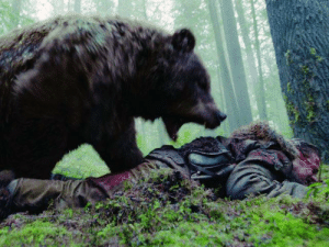 """In """"The Revenant"""" (2015), Leonardo DiCaprio was actually mauled by a bear. He told director Alejandro G. Iñárritu, """"This is the only way I'll ever win a fucking Oscar."""": In """"The Revenant"""" (2015), Leonardo DiCaprio was actually mauled by a bear. He told director Alejandro G. Iñárritu, """"This is the only way I'll ever win a fucking Oscar."""""""
