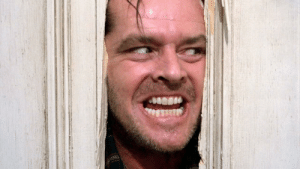 """In """"The Shining"""" (1980), Jack Torrance exclaims """"Here's Johnny!"""" after axing through the door. This is because Jack Nicholson momentarily forgot his real and fictional first name on set.: In """"The Shining"""" (1980), Jack Torrance exclaims """"Here's Johnny!"""" after axing through the door. This is because Jack Nicholson momentarily forgot his real and fictional first name on set."""