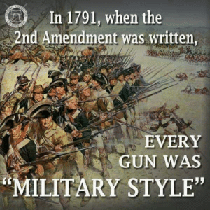 "Bad, Fall, and Memes: In 1791, when the  2nd Amendment was written  EVERY  GUN WAS  MILITARY STYLE"" A little black coffee this morning and some home grown perspective...  If you follow along with my posts or this page, you probably support gun rights. I know most people believe there are various stages of gun rights supporters, right? From those who support the 2nd Amendment as it was written (the only way to support it btw), and those who agree that We the People shouldn't have access to... X. Truth be told, there are no other stages... they don't really exist.   Either you support it as it was written and intended; to defend your individual and collective rights, liberties and freedoms or you fall into the; ""I support it, but..."" category. If you fall into the I support the 2nd, but... category, then you really don't support the 2nd Amendment as it was intended.  Yeah, I get it. You want to say you do... but you still want the government to protect you from the ""bad people"". Nothing wrong with the government creating a civilized place to live with a certain amount of security... but ultimately we are supposed to be part of the solution to protecting society as well as our individual liberties and freedoms.   Through responsibility, self-reliance and independence, we are to take up the torch of protection where our government's abilities fall short (and they often fall short).  We the People are supposed to be responsible enough to be trusted with equal firepower (whether we need it, or not), and there are many out there, that are that responsible, but we still have to self-reflectively ask ourselves;    Why do people who are afraid, so unwilling to trust those who are not (or those who are willing to stand in the face of fear, in spite of it)? Are we really responsible enough or are we falling short? Are we losing the battle for liberty and freedom through complacency, laziness or intolerance?  If we want to be viewed like well-regulated, responsible, and self-reliant citizens by those who are afraid of liberty and freedom, maybe we need to help change their perceptions?   I know we truthfully don't owe them any consideration, because the 2nd Amendment is a natural born, Creator bestowed right to self-defense. EVERY human has that right, inherently... but US Citizens have had that right protected from government infringement and that means ANY FORM OF RESTRICTION or INFRINGEMENT!   The sheep are afraid... and they are looking toward the government to protect them. The same government that is afraid of those who are willing to stand up for liberty and freedom. A government that is afraid of those they can't bully. A government that is afraid of a confident and willing society, that is armed with equal firepower.   The government is intentionally creating the separation of equality, and manufacturing the division among us, and they are doing it to lead us all down a very dark path.   It's time to MAKE A PLAN AND STAND UNITED, because knowledge is power, and it conquers fears... It will also help us rebuild a confident and willing society that no MAN can break. Take a gun grabber to the range, and show them that what they fear... is not the firearm. Maybe they will join us, instead of fight against us?  Just a few things to think about as you go about your day! Thanks for reading along and don't forget to look toward Christ for answers. Not religion... but Christ, because He makes the difference.   #blackcoffeeperspectives #patrioticselfreflections #homegrownhowto #makeaplan  Patrick James"