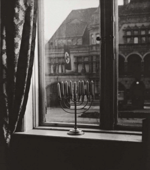 "In 1931, Germany, Found hidden in the home of a rabbi's family was this picture. On it's back said ""Our candles will burn for far longer than their flag will fly."": In 1931, Germany, Found hidden in the home of a rabbi's family was this picture. On it's back said ""Our candles will burn for far longer than their flag will fly."""