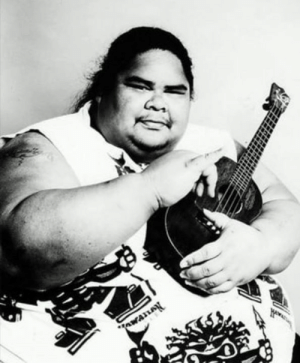 "In 1988, Israel Kamakawiwo'ole called the recording studio at 3am and said he had to record a song right away. 15 minutes later, Israel arrived at the studio. The studio owner, Milan Bertosa said, ""And in walks the largest human being I had seen in my life."" A security guard gave the 500 pounds man a large steel chair to sit on. Milan said, ""Then I put up some microphones, do a quick sound check, roll tape, and the first thing he does is 'Somewhere Over the Rainbow.' He played and sang, one take, and it was over."": In 1988, Israel Kamakawiwo'ole called the recording studio at 3am and said he had to record a song right away. 15 minutes later, Israel arrived at the studio. The studio owner, Milan Bertosa said, ""And in walks the largest human being I had seen in my life."" A security guard gave the 500 pounds man a large steel chair to sit on. Milan said, ""Then I put up some microphones, do a quick sound check, roll tape, and the first thing he does is 'Somewhere Over the Rainbow.' He played and sang, one take, and it was over."""