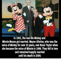 thumb_in 1991 the reallife mickey and minnie mouse got married 13792946 25 best mickey and minnie mouse memes minny mouse memes, wayned