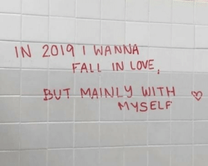 Fall, Love, and In Love: IN 201 I WANNA  FALL IN LOVE  UT MAINLy WITH  MYSELF