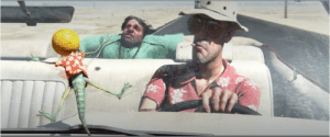"""Another One, Fear and Loathing in Las Vegas, and Johnny Depp: In 2011's Rango starring Johnny Depp, Rango slams into """"Hunter S. Thompson's"""" windshield. Depp portrayed Thompson in 1998's Fear and Loathing in Las Vegas. Hunter's only line in the movie is, """"There's another one,"""" possibly referring to the bats he hallucinates in Fear and Loathing in Las Vegas."""
