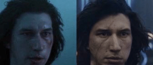 In 2019 Rise Of Skywalker, after rey heals Kylo Ren's lightsaber wound she also heals the scar she left from their previous battle. This also shows the transformation from Kylo Ren back to Ben Solo.: In 2019 Rise Of Skywalker, after rey heals Kylo Ren's lightsaber wound she also heals the scar she left from their previous battle. This also shows the transformation from Kylo Ren back to Ben Solo.