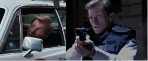 """in a cop car chase scene in """"X-men Days of Future Past"""" (2014), Gwen Stacy's dad (""""The Amazing Spider-Man"""" (2012)) is in one of the police cars.: in a cop car chase scene in """"X-men Days of Future Past"""" (2014), Gwen Stacy's dad (""""The Amazing Spider-Man"""" (2012)) is in one of the police cars."""