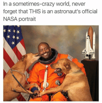 😂😂 (Twitter: erinruberry): In a sometimes-crazy world, never  forget that THIS is an astronaut's official  NASA portrait 😂😂 (Twitter: erinruberry)