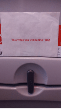 """<p>Wholesome vomit bag</p>: """"In a while you will be fine""""-bag  de.  de  nic  owed  adio <p>Wholesome vomit bag</p>"""