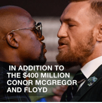 There's a Money Belt 💰to win and it's the stuff of dreams 🤑 floydmayweather conormcgregor tmz tmzsports: IN ADDITION TO  THE $400 MILLION  CONOR MCGREGOR  AND FLOYD There's a Money Belt 💰to win and it's the stuff of dreams 🤑 floydmayweather conormcgregor tmz tmzsports