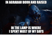 Agrabah: IN AGRABAH BORN AND RAISED  IN THE LAMP IS WHERE  ISPENT MOST OF MY DAYS