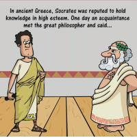 Memes, Greece, and Ancient: In ancient Greece, Socrates was reputed to hold  knowledge in high esteem. One day an acquaintance  met the great philosopher and said... Definitely We All Need To Apply This Great Method To Keep Bullsh*t Away!!  ☑ via Ayurveda ☑ LIKE (Y) Truth Inside Of You for more awesome videos!
