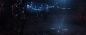 """In Avengers: Endgame (2019), Gamora of the past says """"Terrans"""" while looking at a hologram of the Avengers. This is a reference to Terrence Howard, who used to be the actor for James Rhodes aka War Machine.: In Avengers: Endgame (2019), Gamora of the past says """"Terrans"""" while looking at a hologram of the Avengers. This is a reference to Terrence Howard, who used to be the actor for James Rhodes aka War Machine."""