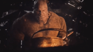 Food, Avengers, and The Avengers: In Avengers Endgame, Thanos is seen cooking a meal. This is a nod to the fact that Thanos doesn't need to eat food, showing how he knew the Avengers were an overrated franchise. He knew that the only way to end the long overdue finale was to let the Avengers catch him off guard, ending the series.