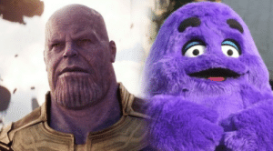 """Avengers, Infinity, and Marvel: In Avengers: Infinity War, Star-Lord calls Thanos """"Grimace"""". This is a reference to the purple McDonaldland antagonist, who uses two pairs of arms to steal sodas/shakes, thus bringing order to a gluttonous McDU (this is just one of many 'homages' Marvel makes to the McDonaldland Extended Universe)."""