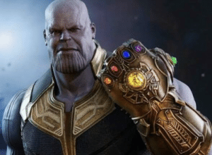 In avengers infinity war, thanos clicks his fingers and wipes out half of the population of the universe. This is a subtle nod to the fact that he collected all six infinity stones: In avengers infinity war, thanos clicks his fingers and wipes out half of the population of the universe. This is a subtle nod to the fact that he collected all six infinity stones