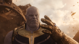 """In """"Avengers: Infinity War"""" Thanos is never seen using the bathroom. This is because he uses the space stone to empty his bowels into the vacuum of space: In """"Avengers: Infinity War"""" Thanos is never seen using the bathroom. This is because he uses the space stone to empty his bowels into the vacuum of space"""