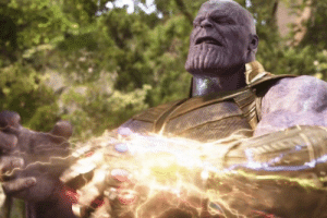 In Avengers: Infinity War, Thanos puts the Infinity Stones in a gauntlet. This is a subtle nod to how if he put them in a toilet seat, he would not be able to wear it.: In Avengers: Infinity War, Thanos puts the Infinity Stones in a gauntlet. This is a subtle nod to how if he put them in a toilet seat, he would not be able to wear it.